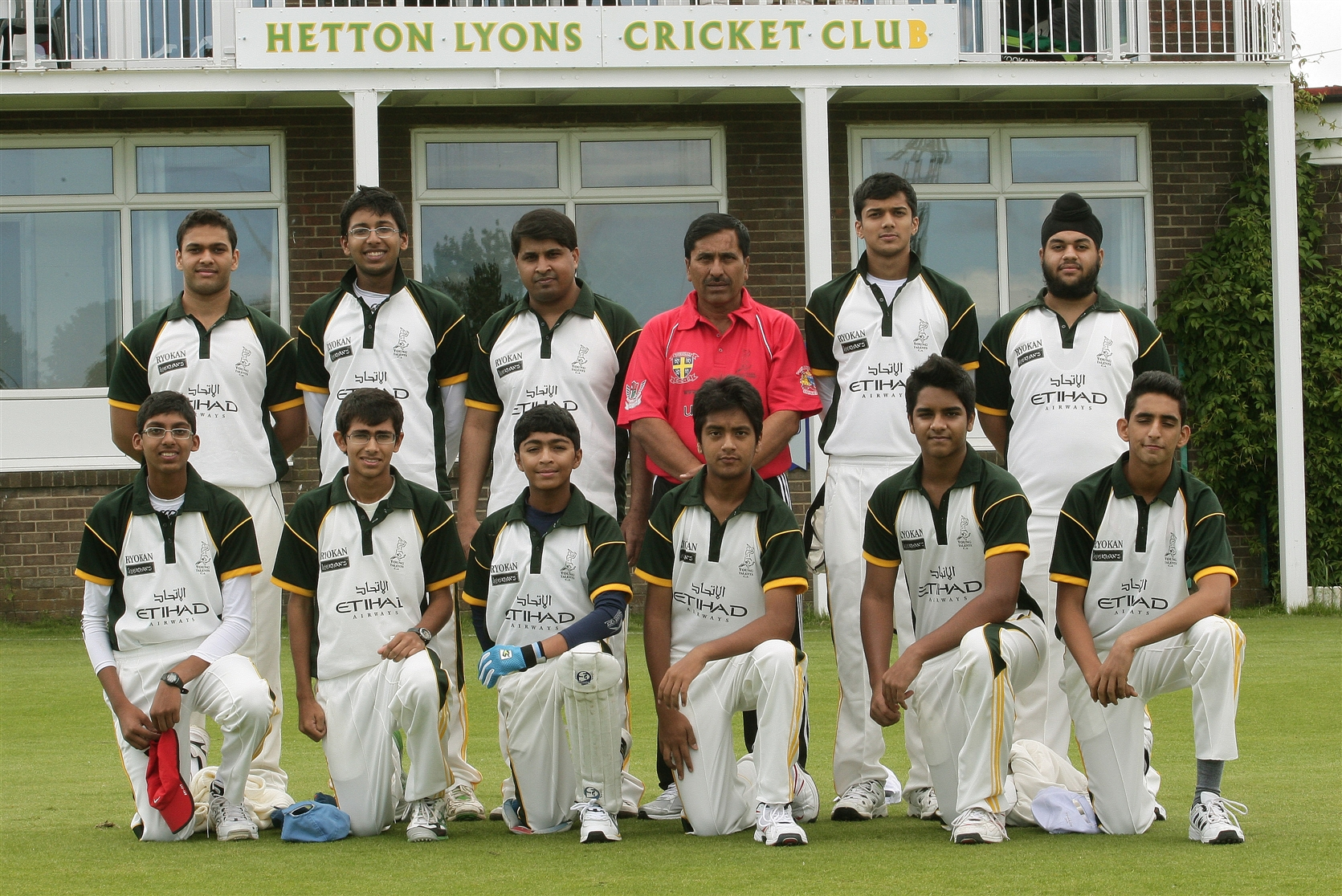 YTCA team with the coach Shazad Altaf, at Hetton Lyons ground  lined up for the  friendly match against Hetton lions team on 27-7-12