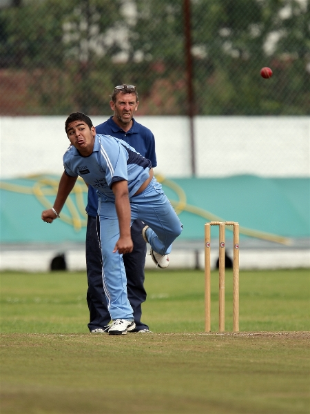 Siddhant Jhurani of YTCA shines in bowling,took three wicket, in the match against Washington CC