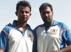 L-R Salman Babar and Abdullah Azhar